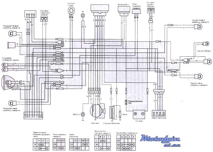 Схема электропроводки Delta