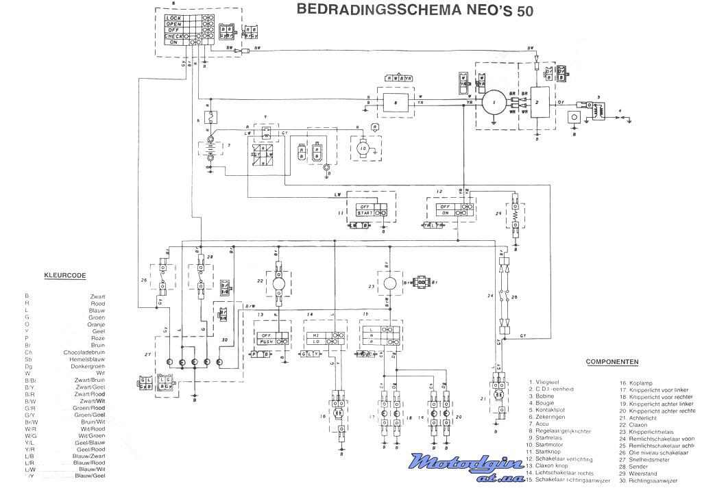 Схема электропроводки Yamaha